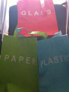 Large Labeled Recycling Bags £1 each @ Poundland