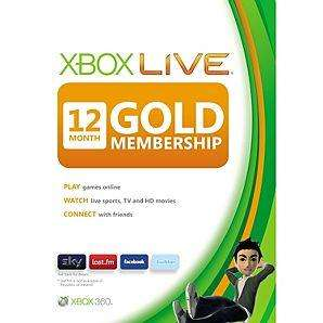 Xbox live gold 12 months £25.00 @ Asda instore
