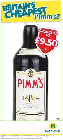 Pimms 1Litre £9.50 @ Morrisons