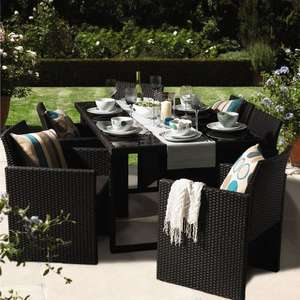 Wilkinsons 6 seater rattan patio set was £399 now £199 Free store delivery plus 4% cashback