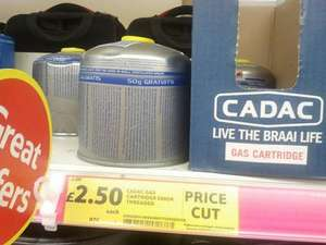 Camping Gas threaded  cartridge whopping 500g @ £2.50 @ Tesco Extra( instore)