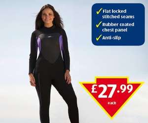 Adults Long Sleeved Wetsuit £27.99 @ Aldi