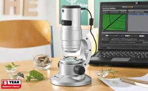 Large USB Digital (x350 Zoom) Microscope £29.99 @ Lidl from the 4th +5 year warranty