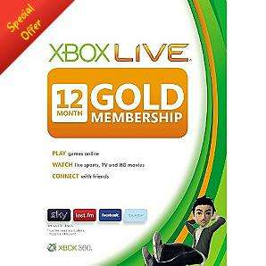 Xbox Live Gold 12 Month Subscription Card £29.97 at Asda Direct