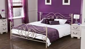 Servilla metal Super King Size bedstead only £167.49 delivered from Bensons for Beds