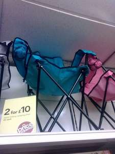 Wilkos camping chairs, £6 or two for £10