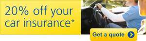 Aviva car insurance - 20% off online + £60 quidco cashback (good for new drivers!)