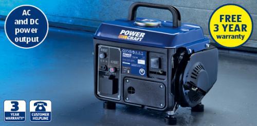 Power Craft 800w Generator £59.99...Sunday 10th July Special Buy @ ALDI