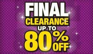 Final Clearance Event - Up to 80% off  at Brantano (Instore Only)