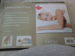Memory foam pillow instore only £6.95 @ Family Bargains store (part of the 99p stores group)