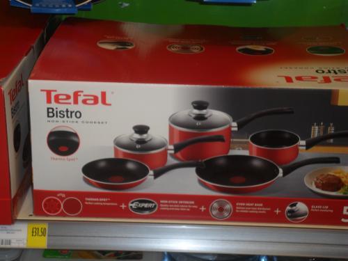 Tefal Bistro 5 Piece Pan Set (Red Spot) Morrisons £31.50