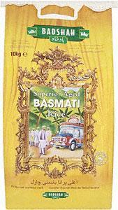 Badshah rice 10kg Asda £8