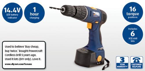 14.4V Cordless Hammer Drill UNDER £20!!! @ ALDI store