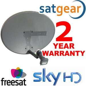 Satgear Sky/Freesat Dish Kit - New Mk4 Sky Satellite Mini Dish Kit with Quad LNB and Wall Brackets, Sky+ / Freesat - £19.95 @ Amazon Sold by NetGadgets