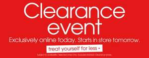 Matalan clearance event starts online today instore tomorrow