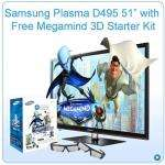 "SAMSUNG PS51D495 51"" 3D PLASMA TV + MEGAMIND 3D & 2 3D GLASSES@1staudiovisual.co.uk  Delivered for £657.67"