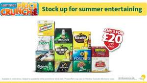£20.00 offer, 3 for 2 Box Deal on BEER, LAGER and CIDER @ Morrisons instore. Or £10.00 each. + Grants Whisky,Gordons Gin and Smirnoff vodka 70cl on post for £11.00 each.