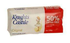 KNIGHTS CASTILE ORIGINAL SOAP 6 X 100G BARS 99P @ B&M'S