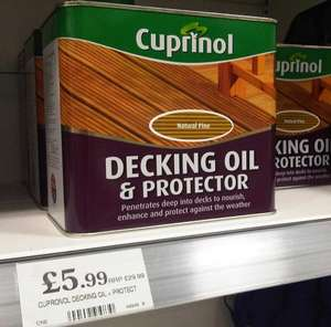 Cuprinol Decking Oil & Protector 2.5l, £5.99 - Home Bargains (In store) normally £15-£20