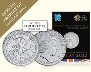 Royal Mint 2011 Olympics £5 coin for £5 with free p&p