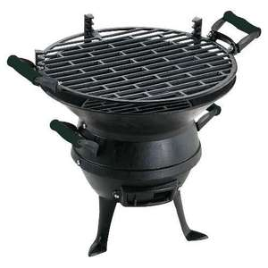 Landmann cast iron round charcoal BBQ (Barbecue) only £12 + free delivery to local store @ Tesco Direct