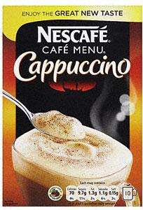 Nescafe (cafe menu) Cappuccino, Mocha, Latte Half Price at Sainsbury's (£1.37)