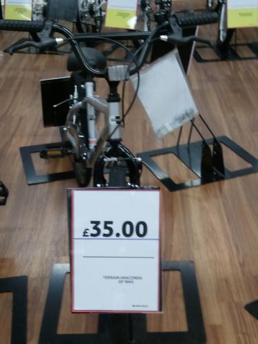 """Terrain Anaconda 20"""" BMX Bike - £35 @ Tesco (Instore & Online)"""