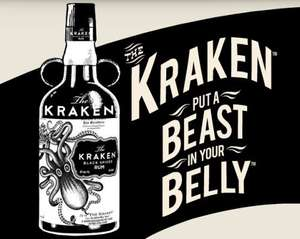 The Kraken Black Spiced Rum £17.59 @ Sainsburys