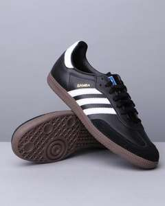 adidas samba in black various sizes at dr jays.com with promo code 30AUG £28.03