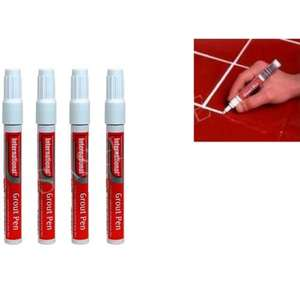 International White Grout Pen 4 x 7ml - 99p Instore @ Home Bargains