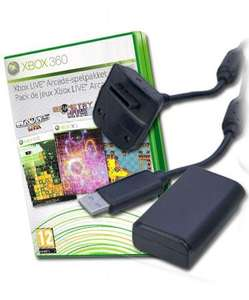 Play & Charge Kit - Black + Xbox Live Arcade Pack - £7.99 Delivered @ GameStop