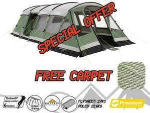 Outwell Vermont 6 Man Tent £589.95 - Casey's Outdoor Leisure