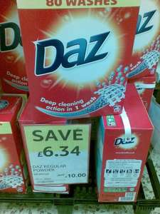 DAZ 80 wash soap powder £10 @ tesco