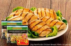 2KG chicken breast at Farmfoods for £8