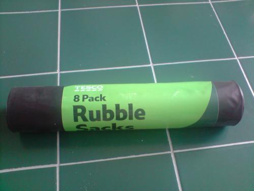 Tesco Rubble Sacks 8 £0.37
