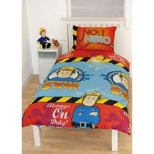 FIREMAN SAM SINGLE DUVET SET £2.99 AT SMYTHS TOYS