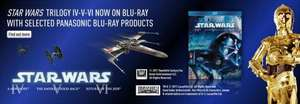 Buy a selected Panasonic Blu Ray player and get The original Star Wars trilogy free