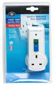 Wilko Safety Breaker RCD Adaptor Fast Trip Double Pole £5 instore @ Wilkinsons