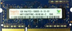 £3.34 - Hynix 1GB SODIMM DDR3 1333 PC10600 - Samsung Laptop