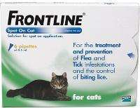 Frontline for Cats £10.79 for 3 £17.60 for 6, Free delivery + 10.1% Cashback