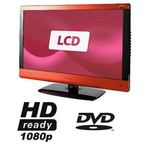 Tesco - Technika 23-231BR 23 inch Widescreen Full HD 1080p LCD TV DVD Combi with Freeview & USB Player - Red
