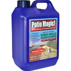 Patio Magic! 5 Litres Liquid Concentrate Mould, Algae and Moss Killer@ amazon
