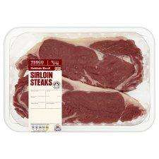 Tesco sirloin steak half price £7.98 a kg two steaks for £3.50