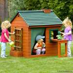 plum wooden play house / cottage £100 + £4.95 postage