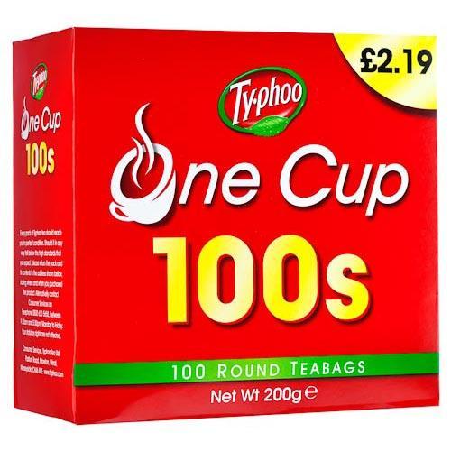 100 Typhoo One Cup Teabags £1.00 @ Poundland (RRP £2.19)