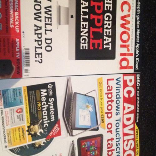 Buy PC Advisor Magazine in Asda and get MacWorld Magazine free! Usually £5.99 in asda