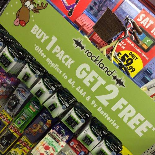 AA batteries buy 1 get 2 free on 4 packs @ Motor World