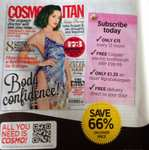 Cosmopolitan subscription £15 for 12 issues and a free Colgate electronic toothbrush worth £99.99 via hearstmagazines