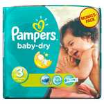 Pampers Baby Dry Size 3 Midi Monthly Pack - 198 Nappies £19.07 (£18.09 subcribe/save) @ Amazon