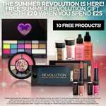 Free Summer Revolution Gift Worth £20 When You Spend £25 - 10 Free Products, 2 x Palettes, 2 x Eye Dusts, 2 Fluid Blushers, 2 x Lip Power, 2 x Eyeshadows - £27.95 (Ends At 10am) @ Makeup Revolution